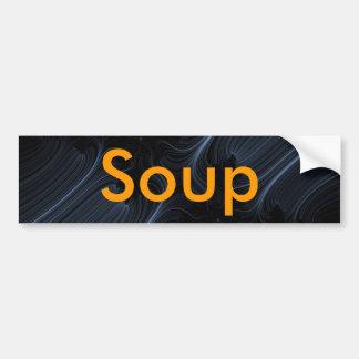 Weiß-LinieFraktal, Suppe Autoaufkleber