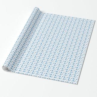 Weiß mit blauem Schneeflocke-Packpapier Geschenkpapier