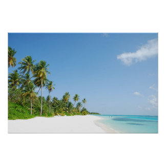 Weiß-Sand-Paradies-Strand-Reise Poster
