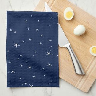 Weiß spielt Marine-Blau-Hintergrund-Muster die Handtuch