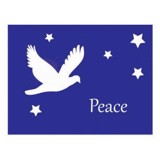 Weiß-Tauben-Friedensentwurf Postkarte