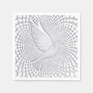 Weiß-Tauben-Standardcocktail-Papierservietten Servietten