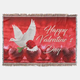 Weiß tauchte mit Roter Rose Decke