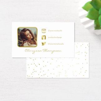 Weiß-u. GoldFoto-sozial-Medien Visitenkarte