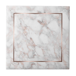 Weiß u. Rose-GoldImitat-Marmor Fliese