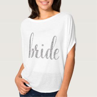 Weiß u. Silberscheinbraut-Shirt T-Shirt