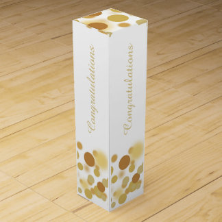 Weiß und Goldchampagne-Blasen-personalisierter Weinbox