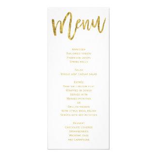 Weiß und Goldhochzeits-Menü personalisiert 10,2 X 23,5 Cm Einladungskarte