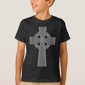 Weiß und Grau des keltischen Kreuzes T-Shirt