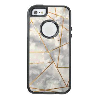 Weiß und Marmor mit Imitat-Goldfolien-Formen OtterBox iPhone 5/5s/SE Hülle
