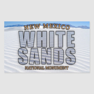 Weiß versandet nationales Monument-Aufkleber Rechteckiger Aufkleber