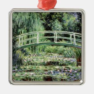 Weiß-Wasserlilien Claudes Monet  , 1899 Silbernes Ornament
