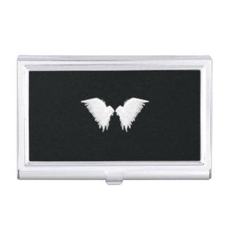 Weiß Wings Visitenkarte-Halter Visitenkarten Dose
