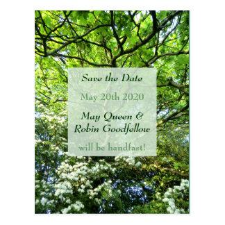 Weißdorn-u. Eichen-Heide-Save the Date Postkarte