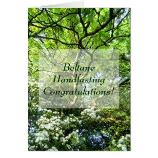Weißdorn und Eiche Beltane Hochzeits-Glückwünsche Karte