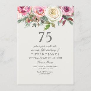 Weiße 76. 77. 78. 79. Geburtstag der Rosen-75. Einladung