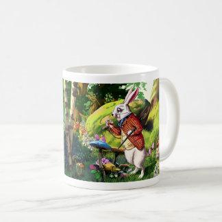 """Weiße """"Alice im Wunderland-"""" Ostern-Tassen des Kaffeetasse"""
