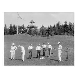 Weiße Berge Golfers, 1910 Postkarte