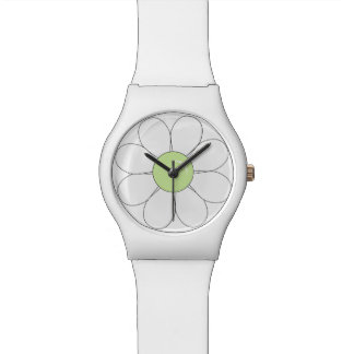 Weiße Blume Armbanduhr