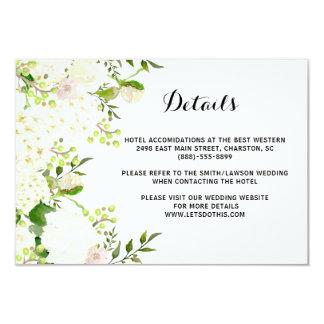 Weiße Blumen, die Einzelhandel, Richtungseinsatz Karte
