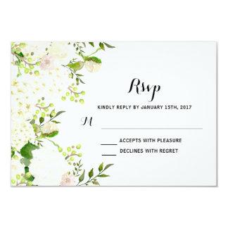 Weiße Blumen, die uAwg Wedding sind, Karte