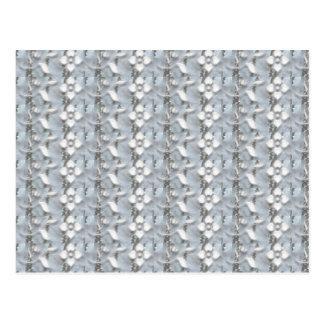 Weiße Blumen-silberne Schnur-Kunst NVN171 Postkarte