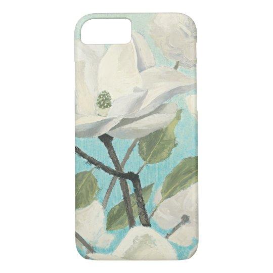 Weiße Blüten vom Süden iPhone 7 Hülle