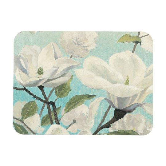 Weiße Blüten vom Süden Magnet