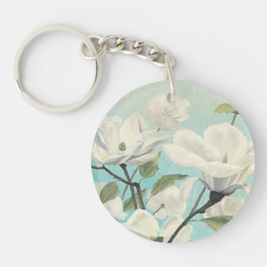 Weiße Blüten vom Süden Schlüsselanhänger