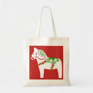 Weiße Dala PferdeTaschen-Tasche Tragetasche