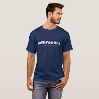 weiße des Bewusstseins rote und blaue Ausgabe T-Shirt