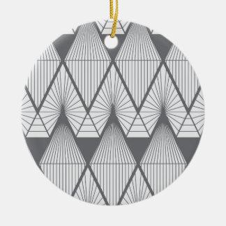 Weiße Diamanten Keramik Ornament