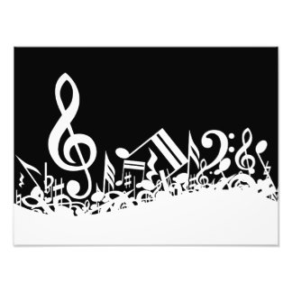 Weiße durcheinandergebrachte musikalische photodrucke