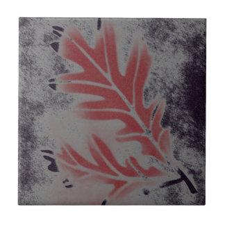 Weiße Eichen-Blatt Kleine Quadratische Fliese