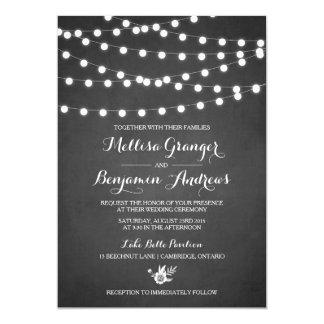 Weiße feenhafte Licht-Tafel-Hochzeits-Einladung 12,7 X 17,8 Cm Einladungskarte