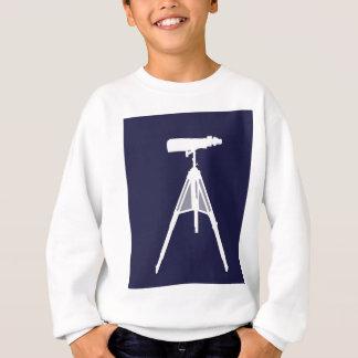 Weiße Ferngläser im Marine-Blauhintergrund Sweatshirt