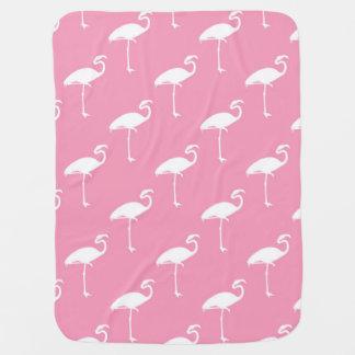 Weiße Flamingo-tropische Flamingo-rosa Hintergrund Babydecken