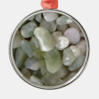 weiße Füllefelsen Silbernes Ornament