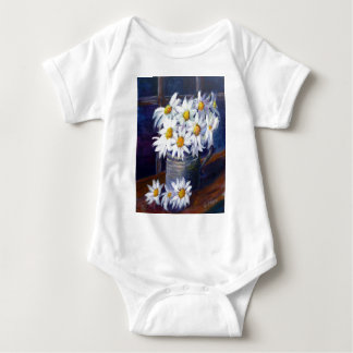 Weiße Gänseblümchen Baby Strampler