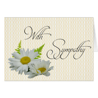 Weiße Gänseblümchen-große Grußkarte