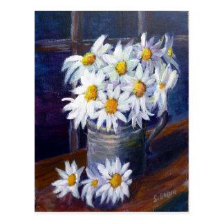 Weiße Gänseblümchen Postkarte