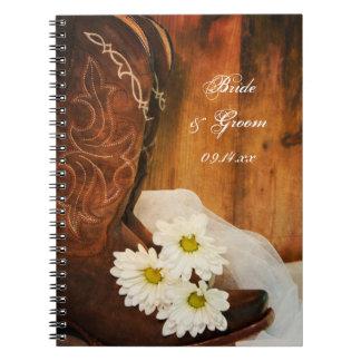 Weiße Gänseblümchen-und Spiral Notizblock