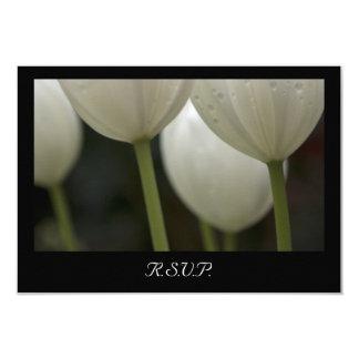 Weiße Garten-Tulpe-Frühlings-Hochzeit UAWG Karte