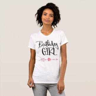 Weiße Geburtstags-Mädchen-T - Shirts