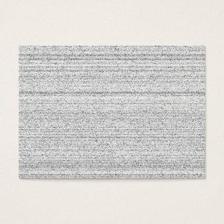 Weiße Geräusche. Schwarzweiss-Snowy-Korn Visitenkarte