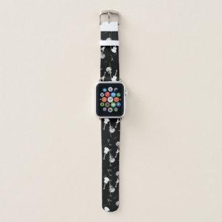 Weiße Gitarren schaukeln Schwarzes ein Apple Watch Armband