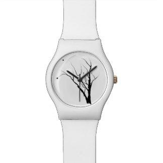 Weiße Herbst-Baum-Uhr Armbanduhr