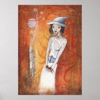 Kostümmädchen jugendlich Hexe