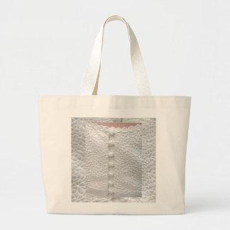 Weiße Hochzeits-Kleidertasche - kundengerecht Einkaufstaschen