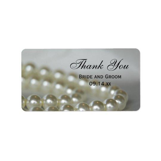 Weiße Hochzeits-Perlen danken Ihnen, Umbauten zu Adressaufkleber